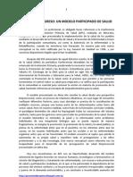 Proyecto Progreso Un Modelo Participado de Salud Ignacio Maynar