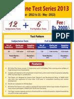 IES Online Test Series 2013 Schedule