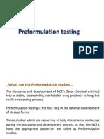 9. Preformulation Testing