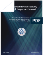Department Of Homeland Security Eval Of Massachusetts