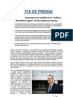 Nota de Prensa UPV-EHU Prevención de blanqueo de capitales