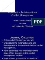 Introduction to International Conflict Management