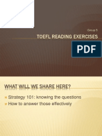 TOEFL Reading Exercises