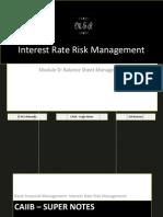 72870971 CAIIB Super Notes Bank Financial Management Module D Balance Sheet Management Interest Rate Risk Management