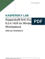 KAV 6.0MP4 for Windows Workstations (Manual)