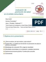 Metodología y evaluación de programas de promoción de la salud en el ámbito comunitario