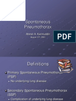Spontaneous Pneumothorax