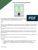 Como substituir as lâmpadas para economizar