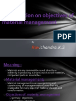 Presentation on Objectives of Material Management