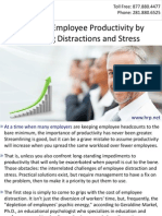 Boosting Employee Productivity by Reducing Distractions and Stress