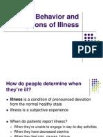 Illness Behavior & Perception