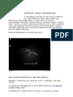 USB BackTrack Linux Instalacija