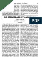 Augustinus, De Sobrietate Et Castitate [Incertus], MLT