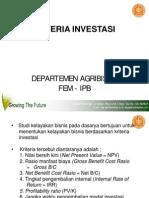 Bab 7 Kriteria Investasi