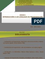 Unidad 1 de Introduccion Al Lenguaje y Programacion