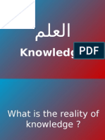 The Reality of Knowledge