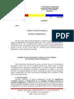 Scrisoare CSM Curtea Constitutionala