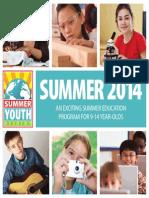 MNTC Summer Youth Academy Catalog