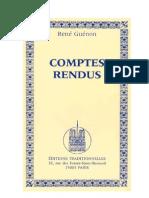 René Guénon - Comptes rendus