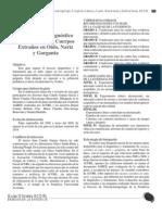 Guía para el diagnóstico y tratamiento de Cuerpos Extraños en Oído, Nariz y Garganta
