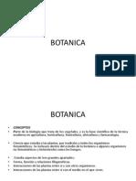 BOTÁNICA. Concepto e Historia.