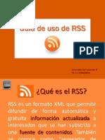 Guía de uso de RSS
