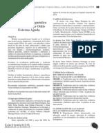 Guía para el diagnóstico y tratamiento la Otitis Externa Aguda