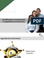 PRESENTACIÓN SENSIBILIZACIÓN SEGURIDAD INFORMACIÓN OCTUBRE 2012
