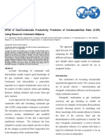 KPIM of GasCondensate Productivity- Prediction of Condensate Gas Ratio (CGR) Using Reservoir Volumetric Balance