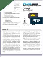 FlowLine Level Switch Sensors Switch-Tek LP50 Manual