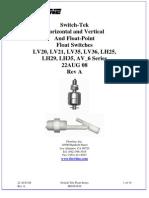 FlowLine Level Switch Sensors Switch-Tek LV20 LV35 LH25 LH29 LH35 Manual