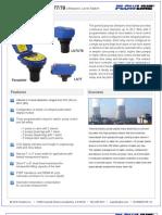 FlowLine Level Switch EchoSwitch LU74 LU77 LU78 Data Sheet