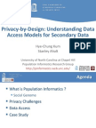 Privacy-By-Design-Understanding Data Access Models for Secondary Data