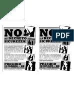 NoAlDecretoSicurezza II