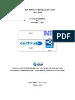 NIELIT Scientific Assistant Draft_Syllabus_STA_R