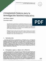 José Romero- presupuestos basicos para la investigacion historico educativa