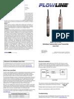 FlowLine Level Transmitter Contact DeltaSpan LD31 GP Quick Start