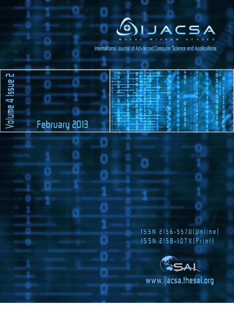 IJACSA_Volume 4 No 2   Machine Learning   Regression Analysis