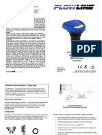 FlowLine Level Transmitter Ultrasonic EchoSonic With Cable LU23 LU28 LU29 Quick Start