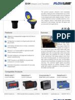 FlowLine Level Transmitter Ultrasonic EchoSpan LU80 LU81 LU83 LU84 Data Sheet
