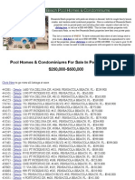 Pensacola Beach Pool Homes $250,000-500,000