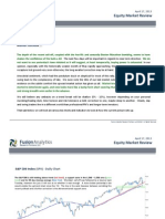 Fusion Research - Equity Market Review for April 17th 2013