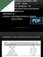 CONTRIBUIÇÃO AO ESTUDO DA DESERTIFICAÇÃO NA BACIA DO