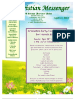 April 21 Newsletter