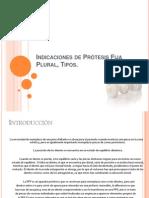 Indicaciones de PFP, TIPOS