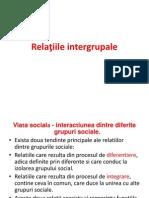 Relatiile intergrupale