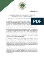 CP - Denuncia consecuencias nefastas de la Ley 3 en la seguridad pública y propone enmiendas .doc