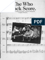 The Who - Rockscore (Full Band Score - No Good Songs)