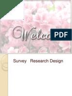 Survey Research Design