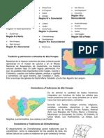 Tradiciones -Los-Departamentos-De- Las Ocho Regiones de Guatemala